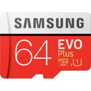 Карта памяти Samsung microSDXC 64Gb Class 10 UHS-I EVO Plus + SD Adapter (MB-MC64HA)