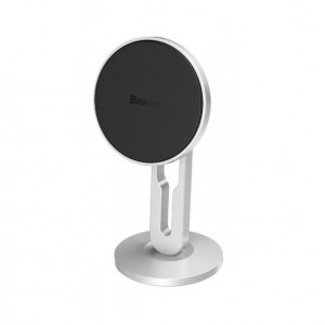 Автодержатель Baseus Hollow Magnetic Car Mount Vertical Type silver