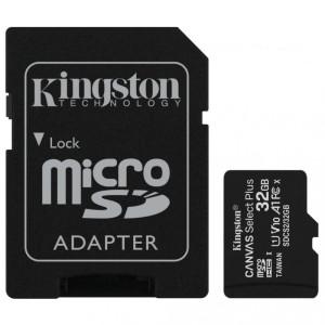 Карта памяти Kingston microSDHC 32Gb Canvas Select Plus + SD Adapter SDCS2/32GB