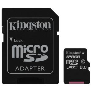 Карта памяти KINGSTON microSDXC 128Gb Canvas Select+ A1 (R100/W85) +ad