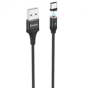 Кабель Hoco U76 Fresh Magnetic Type-C (1.2m) black