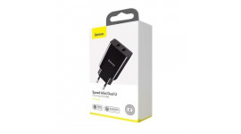 СЗУ Baseus Speed Mini QC Dual U Charger 18W (2 USB) black