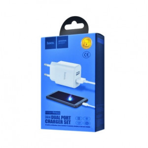 СЗУ Hoco C62A Charger + Cable (Micro) 2.1A 2USB white