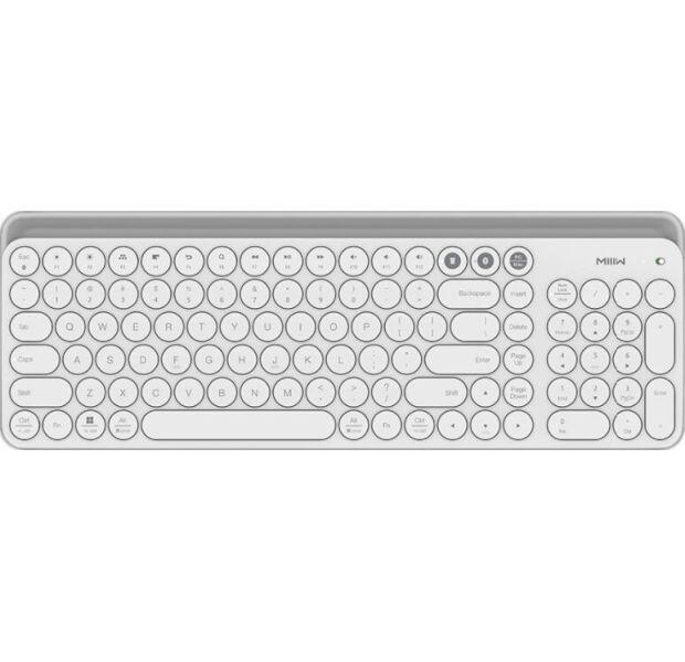 Клавиатура беспроводная Xiaomi MiiiW AIR85 Plus MWBK01 Keyboard Bluetooth Dual Mode White