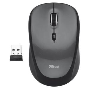 Мышь Trust Yvi Wireless Mini Mouse grey (18519)