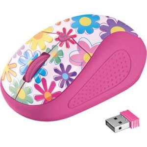Мышь Trust Primo Wireless Mouse pink flowers (21481)