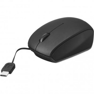 Мышь Trust USB-C retractable mini mouse black (20969)