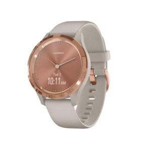 Смарт-часы Garmin Vivomove 3s Rose Gold Stainless Steel Bezel w. Light Sand and Silicone B. (010-02238-02)