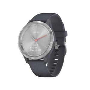 Смарт-часы Garmin Vivomove 3s Silver Stainless Steel Bezel w. Granite Blue and Silicone B. (010-02238-00)