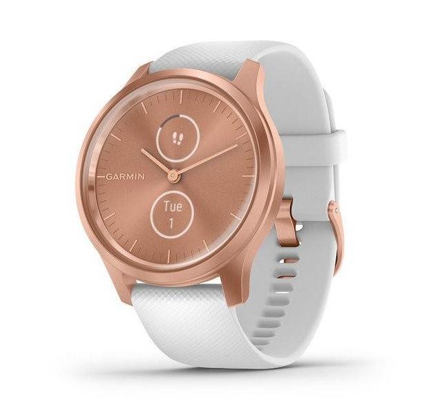 Смарт-часы Garmin Vivomove Style Rose Gold Aluminum w. White Silicone B. (010-02240-00)