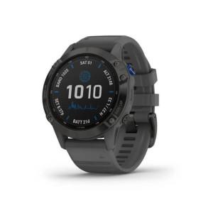 Спортивные часы Garmin Fenix 6 Pro Solar Edition Black With Gray Band (010-02410-11/10)