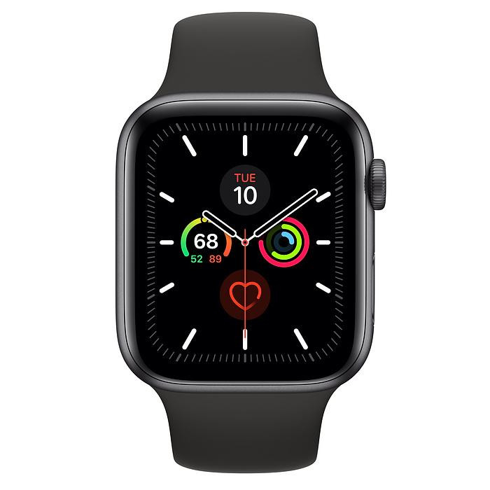 Смарт-часы Apple Watch Series 5 GPS 44mm Space Gray Aluminum w. Black b.- Space Gray Aluminum (MWVF2)