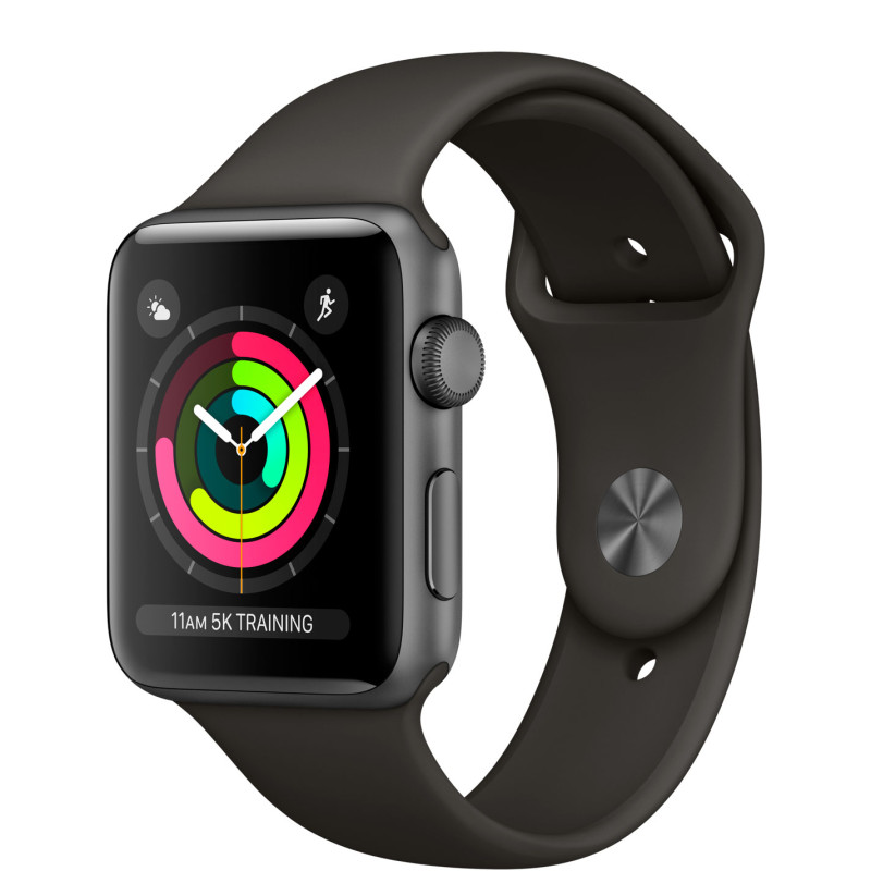 Смарт-часы Apple Watch Series 3 GPS + Cellular 42mm Space Gray Aluminum w. gray Sport B. (MR2X2)