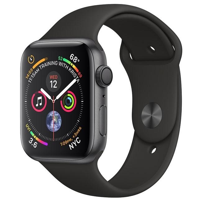 Apple Watch Series 4 GPS 44mm Gray Alum. w. Black Sport b. Gray Alum. (MU6D2)