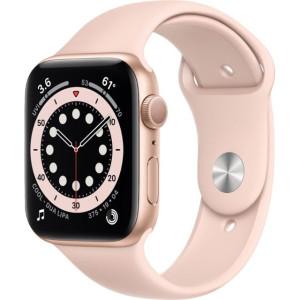 Смарт-часы Apple Watch Series 6 GPS 40mm Gold Aluminum Case w. Pink Sand Sport B. (MG123)