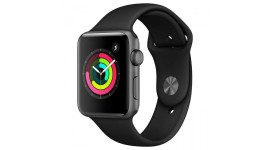 Смарт-часы Apple Watch Series 3 GPS 38mm Space Gray with Black Sport Band (MTF02)