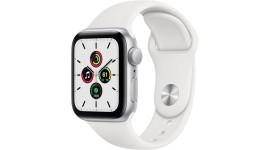 Смарт-часы Apple Watch SE GPS 44mm Silver Aluminum Case w. White Sport B. (MYDQ2)
