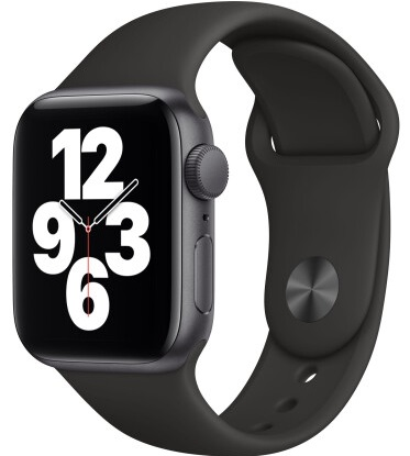 Смарт-часы Apple Watch SE GPS 40mm Space Gray Aluminum Case w. Black Sport B. (MYDP2)