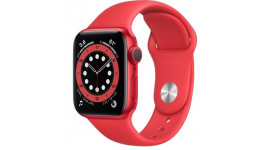Смарт-часы Apple Watch Series 6 GPS 40mm (PRODUCT)RED Aluminum Case w. (PRODUCT)RED Sport B. (M00A3)