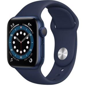 Смарт-часы Apple Watch Series 6 GPS 44mm Blue Aluminum Case w. Deep Navy Sport B. (M00J3)