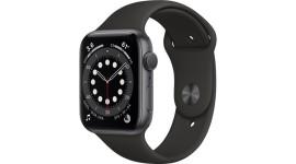Смарт-часы Apple Watch Series 6 GPS 44mm Space Gray Aluminum Case w. Black Sport B. (M00H3)