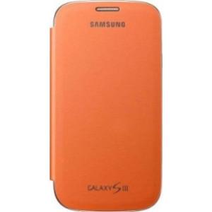 Samsung Flip Cover для Galaxy i9300 S3 orange
