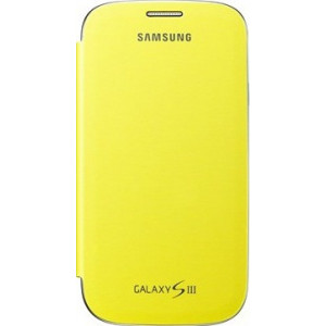 Samsung Flip Cover для Galaxy i9300 S3 yellow