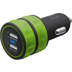 Trust urban revolt dual smart car charger lime