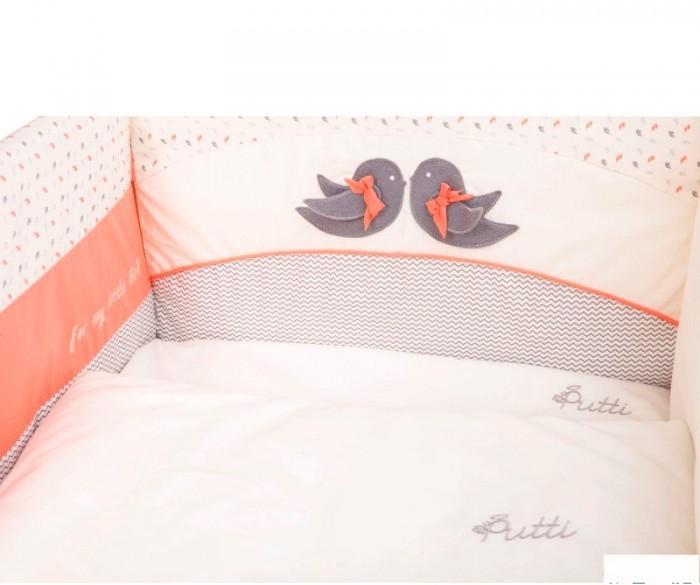 Комплект постельного белья putti baby bird 6 эл. (розовый)
