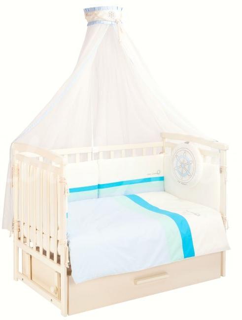 Универсальный балдахин на кроватку putti sea silence (голубой)