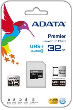 ADATA micro SDHC UHS-I 32GB class 10 (AUSDH32GUICL10-R)