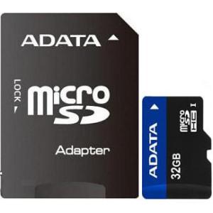 Карта памяти ADATA microSDHC 32Gb (Class 10) + SD adapter