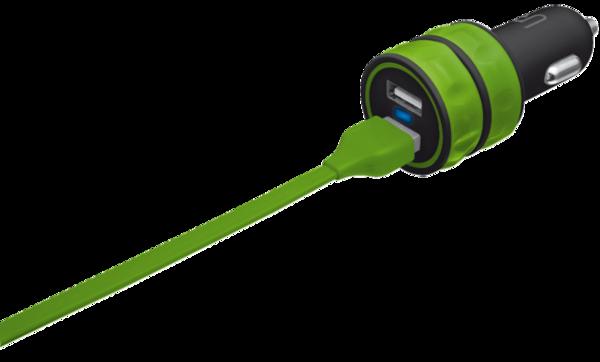 АЗУ Urban Revolt Dual Smart Car Charger 2 USB 1 А Lime (6224630)