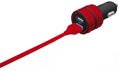 АЗУ Urban Revolt Dual Smart Car Charger 2 USB 1 А red (6224631)