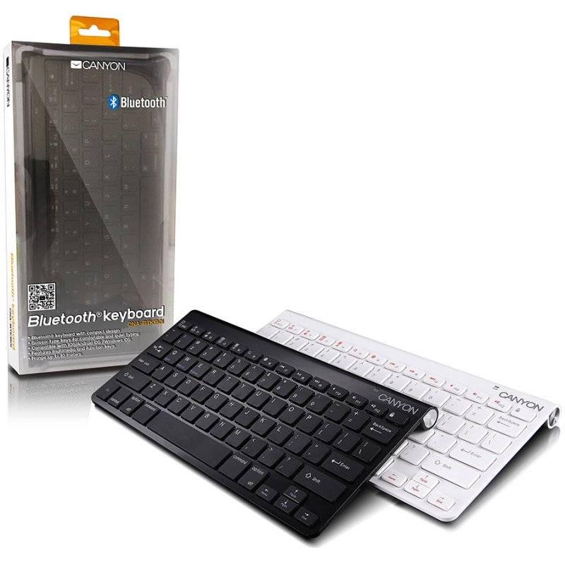 Клавиатура CANYON Bluetooth keyboard with 14 function keys white (CNABTKB01WRU)