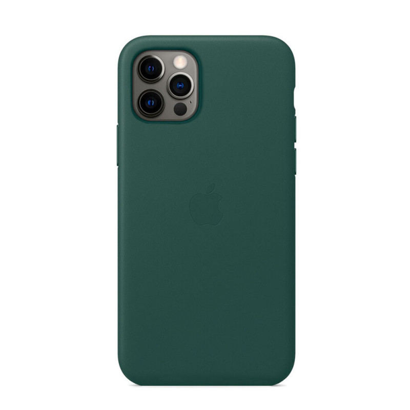 Чехол Leather Case with MagSafe iPhone 12 mini (MTES2FE/A) Pine Green