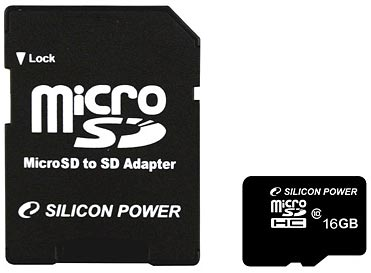 Карта памяти Silicon Power microSDHC 16Gb Class 10 (SP016GBSTH010V10)