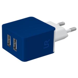 СЗУ Urban Revolt Dual Smart Wall Charger 2 USB 1 А blue (6226380)