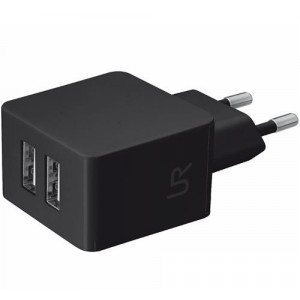 Trust Ultra Dual Smart Wall Charger black