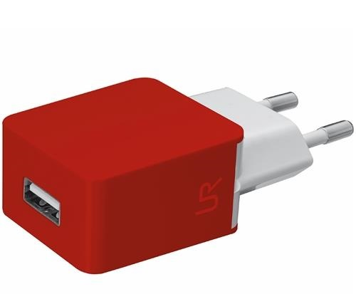 Trust Ultra Smart Wall Charger red