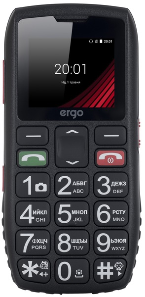 Ergo F184 Respect Dual Sim (black)