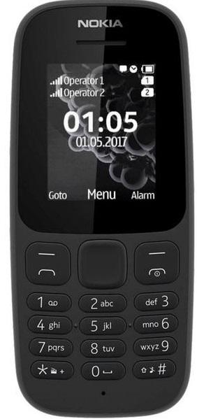 Мобильный телефон Nokia 105 Single Sim 2019 black (16KIGB01A13) (UA)