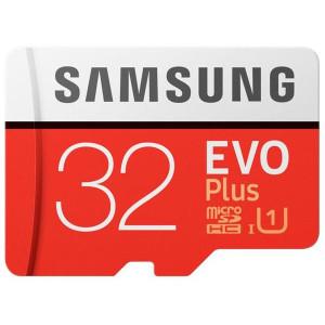 Карта памяти SAMSUNG microSDHC 32GB EVO PLUS UHS-I (R95, W20MB/s)
