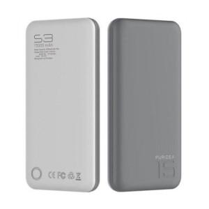 Внешний аккумулятор (Power Bank) Puridea S3 15000mAh Li-Pol Rubber grey & white (S3-grey-white)