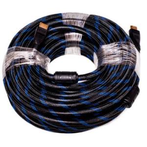 Видeo кабель PowerPlant HDMI - HDMI, 15m, позолоченные коннекторы, 1.4V, Nylon, Double ferrites