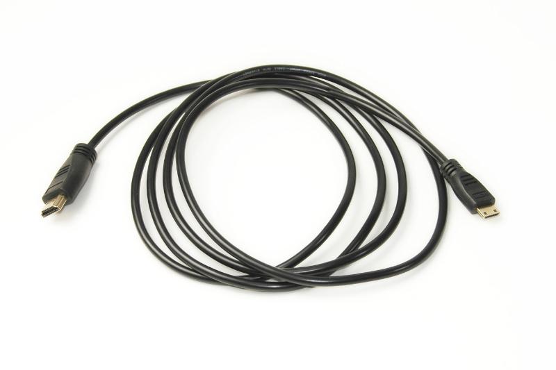 Видео кабель PowerPlant HDMI - mini HDMI, 2m, позолоченные коннекторы, 1.4V