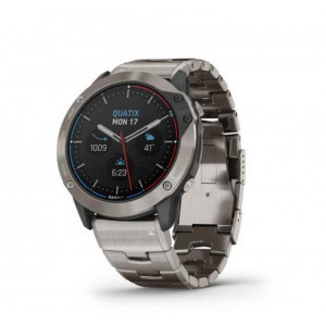 Смарт-часы Garmin quatix 6X Solar Titanium with Titanium Band (010-02157-30)