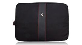 """В подарок стильная сумка для ноутбука Ferrari with metal logo 15"""" black (FECOLV3B)!"""