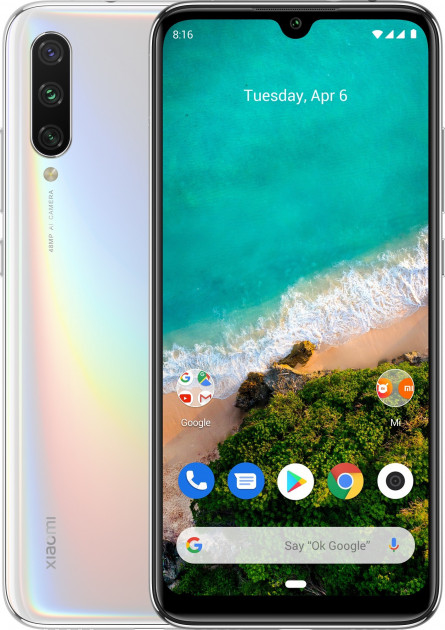 Смартфон Xiaomi Mi A3 4/128GB white (Global version)