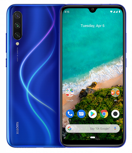 Смартфон Xiaomi Mi A3 4/128GB blue (Global version)
